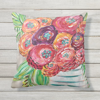 Pretty outdoor pillows, custom pillows for patio