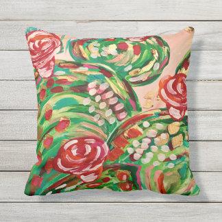 Pretty outdoor pillows/ outdoor decor/ cactus throw pillow
