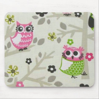 Pretty Owls Mouse Pad