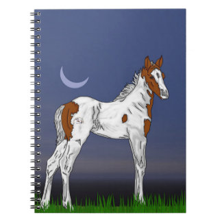 Pretty Paint Horse Foal Spiral Notebook