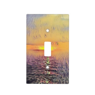 Pretty Painted Oceanview Sunrise Light Switch Cover