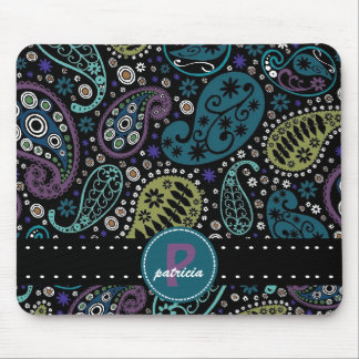 Pretty Paisley in Rich Peacock Colors Mouse Pad