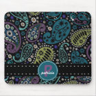 Pretty Paisley in Rich Peacock Colours Mouse Pad