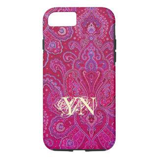 Pretty Paisley monogram iPhone 7 Case