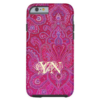 Pretty Paisley monogram Tough iPhone 6 Case