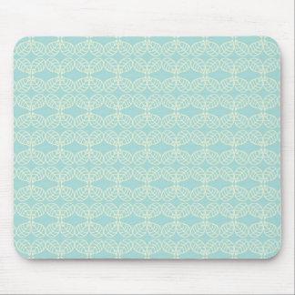 Pretty pale aqua mouse pad