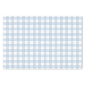 Pretty Pale Denim Blue Gingham Checked Pattern Tissue Paper