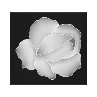 Pretty pale gray rose decor canvas print