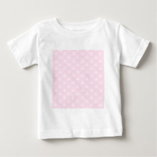 Pretty pale pink damask pattern with white. tshirt