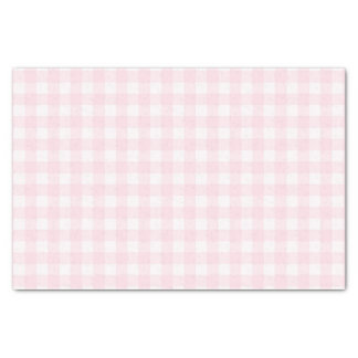 Pretty Pale Pink Gingham Checked Pattern Tissue Paper