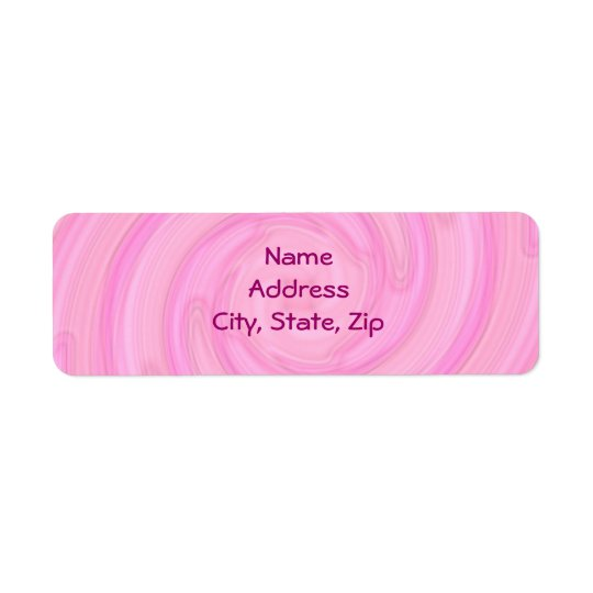 Pretty pale pink girly swirl return address label