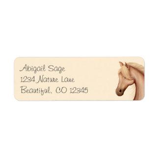Pretty Palomino Horse Address Labels