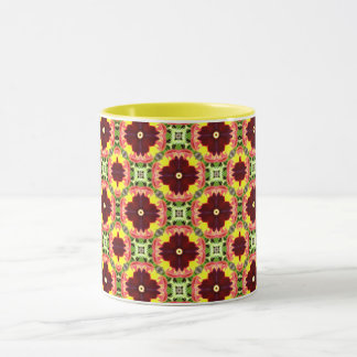 ~ Pretty Pansies Fractal ~ Mug