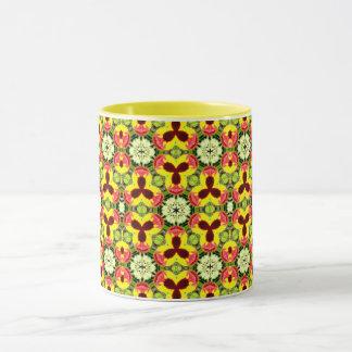 ~ Pretty Pansies Fractal ~ Mug