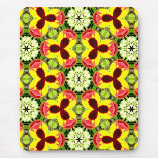 ~ Pretty Pansies in my Garden Fractal ~ Mouse Pad