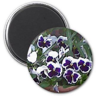 Pretty Pansies Magnet