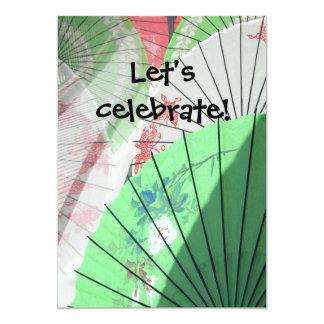 Pretty Parasol Invitations -- customize