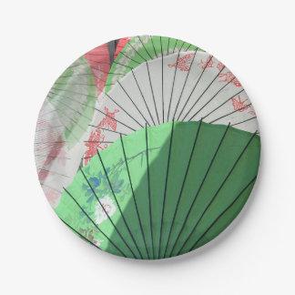 Pretty Parasol Paper Plate 7 Inch Paper Plate