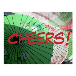 Pretty Parasol Postcard - customize
