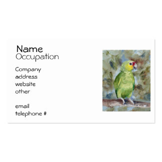 Pretty Parrot Pack Of Standard Business Cards