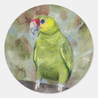 Pretty Parrot III Round Sticker