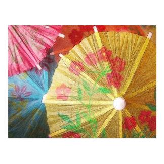 Pretty Party Parasols Postcard
