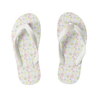Pretty Pastel Bubbles Kid's Flip Flops