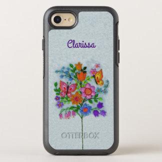 Pretty Pastel Colors Flower Bouquet Butterflies OtterBox Symmetry iPhone 8/7 Case