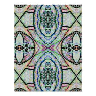 Pretty Pastel Colors Kaleidoscope Abstract Pattern Customized Letterhead