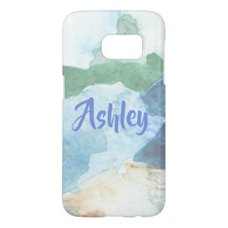 Pretty Pastel Floral Watercolor Samsung Galaxy S7 Case