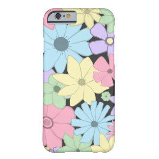 Pretty Pastel Flowers Barely There iPhone 6 Case