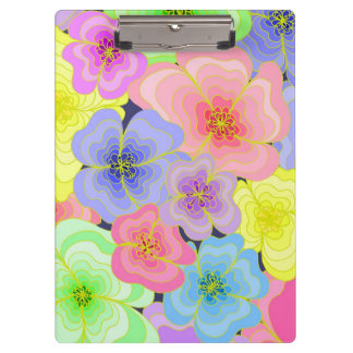 Pretty pastel flowers clipboard