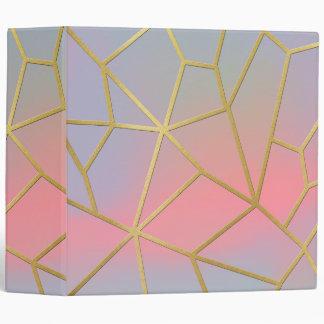 Pretty Pastel Geometrical Mosaic Pattern Vinyl Binder