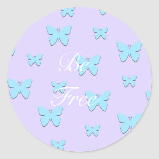 Pretty Pastel Graphic Butterfly Stickers