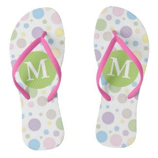 Pretty Pastel Monogrammed Flip Flops