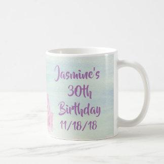 Pretty Pastel Pink Hydrangea Watercolor Coffee Mug