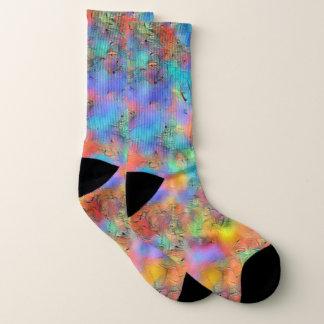 Pretty pastel rainbow colourful socks