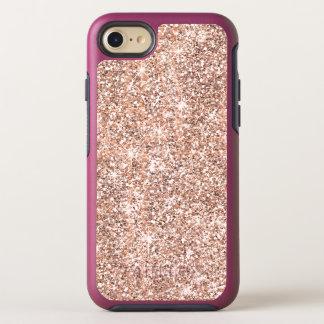 Pretty Pastel Rose Gold Glitter Sparkles OtterBox Symmetry iPhone 8/7 Case