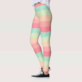 Pretty Pastel Striped Leggings