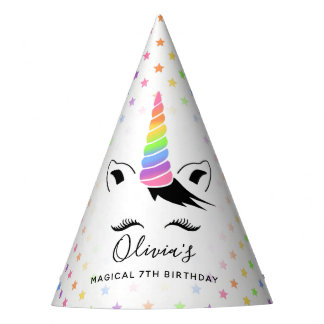 Pretty Pastel Unicorn Birthday Party Party Hat