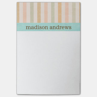 Pretty Pastel Vertical Stripes Pattern Post-it Notes