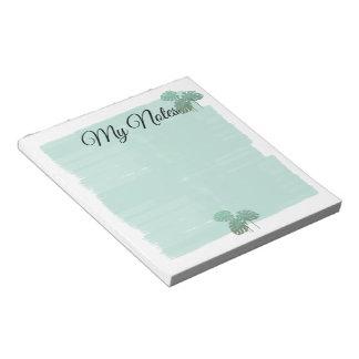 Pretty Pastels Mint Watercolor Canvas Notepad