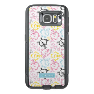 Pretty Pastels Pattern   Add Your Name OtterBox Samsung Galaxy S6 Case