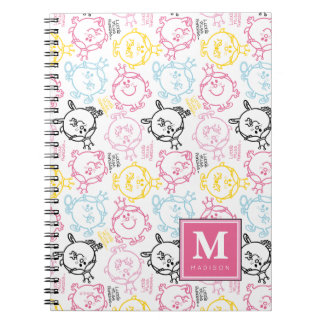 Pretty Pastels Pattern | Add Your Name Spiral Note Book