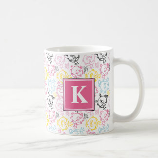 Pretty Pastels Pattern | Monogram Coffee Mug