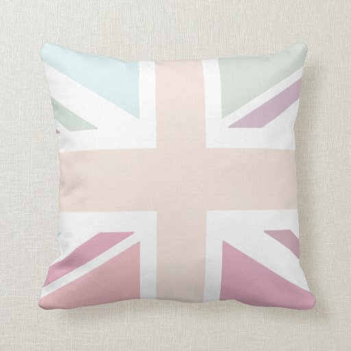 Pretty Pastels Union Flag Cushion Throw Pillow