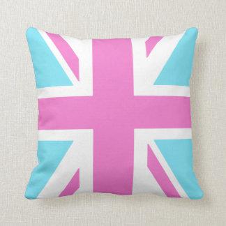 Pretty Pastels Union Flag Cushion Throw Pillows