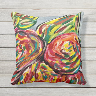 Pretty patio pillow, outdoor pillow, decor outdoor pillow