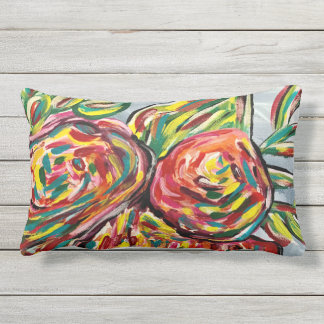 Pretty patio pillow, outdoor pillows