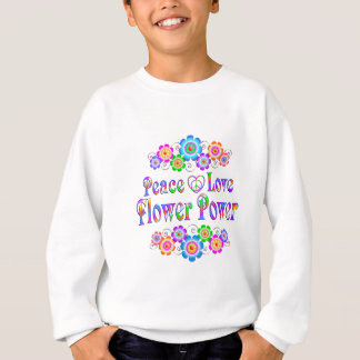 Pretty Peace Love Flower Power Sweatshirt